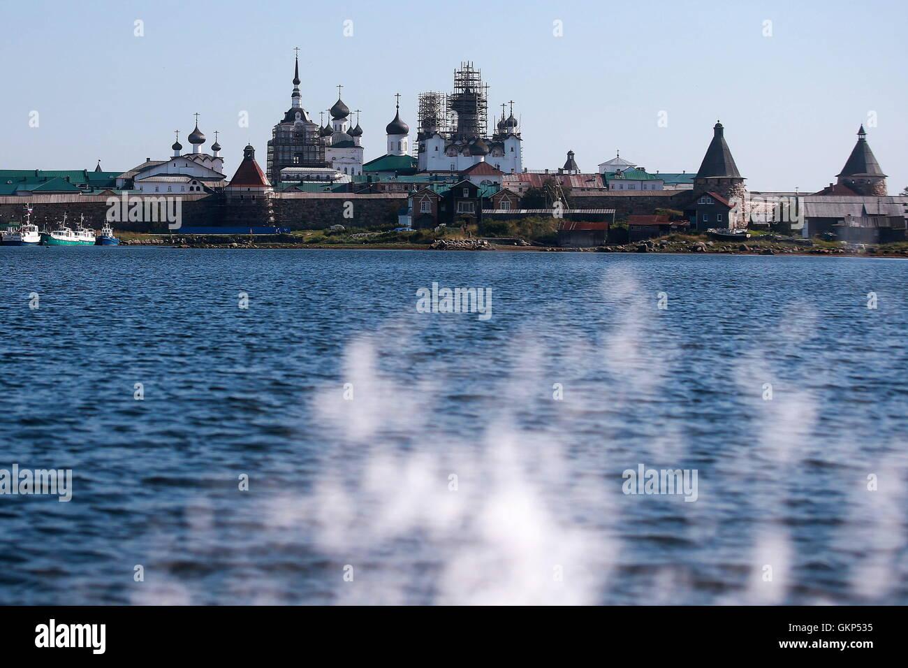 Arkhangelsk Region, Russia. 20th Aug, 2016. The Solovetsky Monastery on the Solovetsky Archipelago. © Sergei Fadeichev/TASS/Alamy Stock Photo