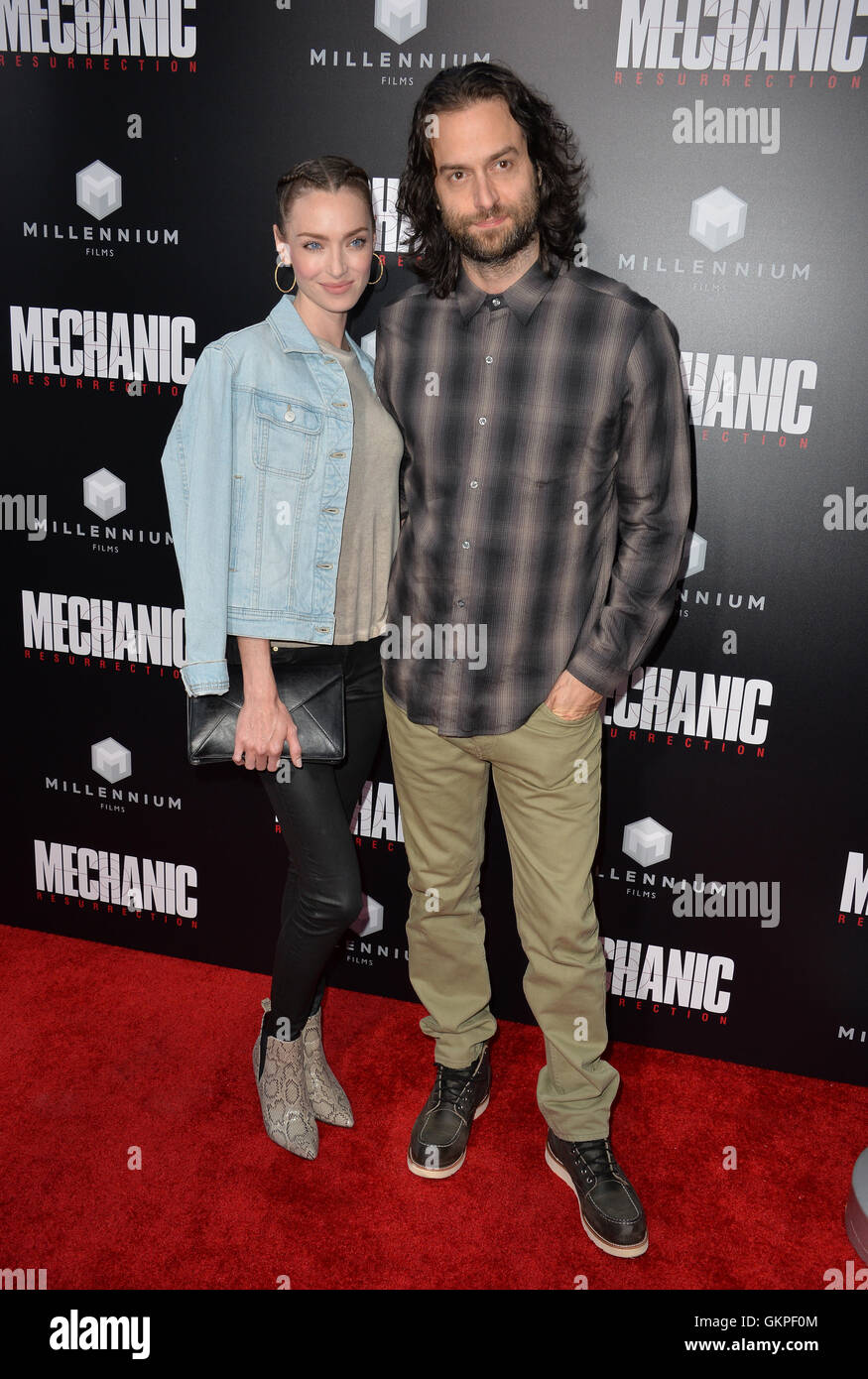 Los Angeles, USA. 22nd Aug, 2016. LOS ANGELES, CA. August 22, 2016: Comedian Chris D'Elia & actress Cassi - Stock Image
