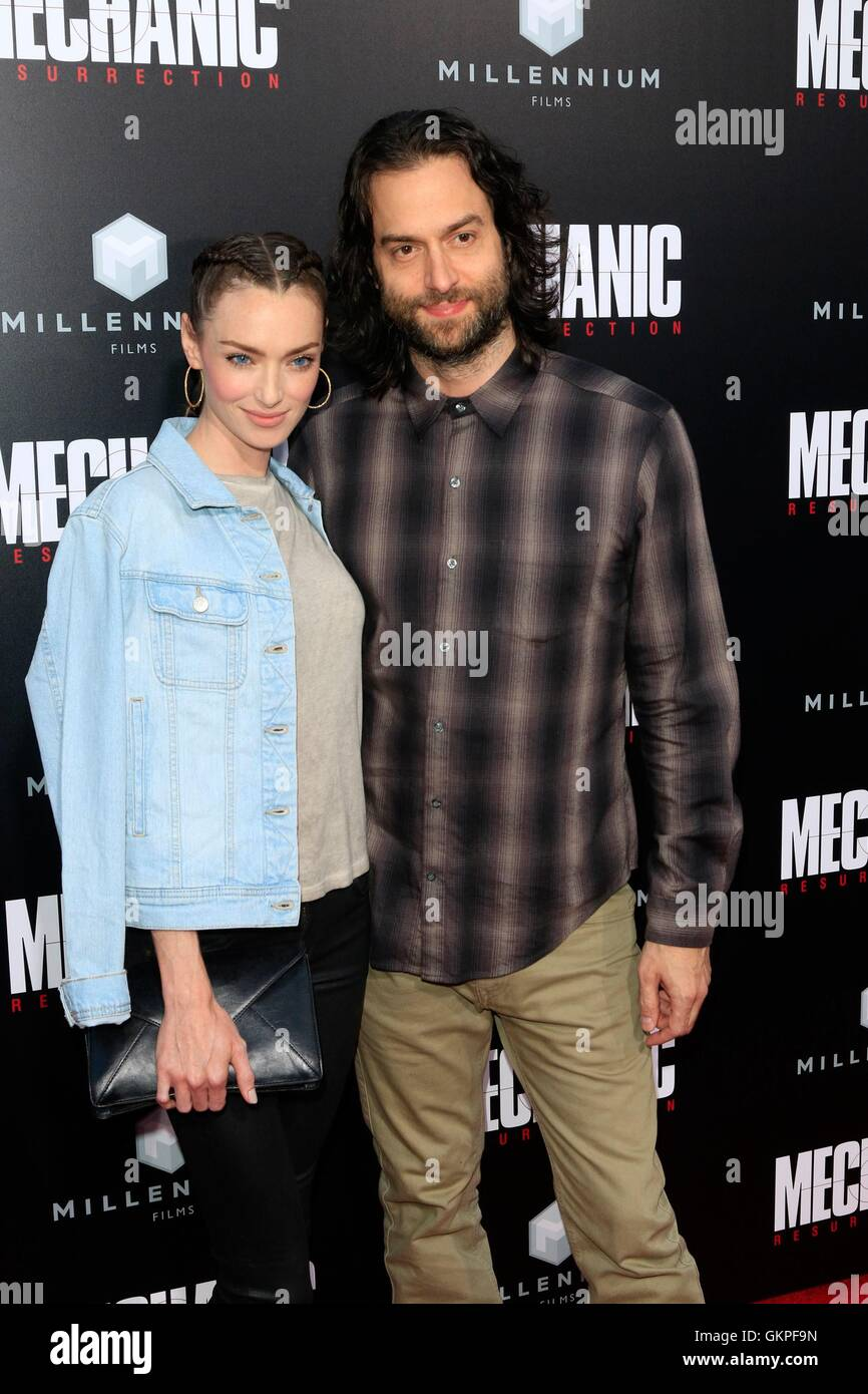 Los Angeles, CA, USA. 22nd Aug, 2016. Cassi Colvin, Chris D'Elia at arrivals for MECHANIC: RESURRECTION Premiere, - Stock Image