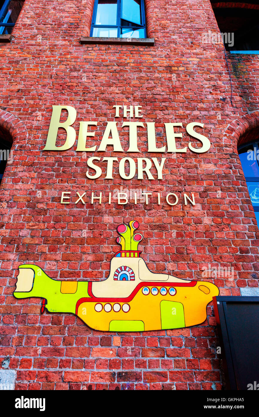 The Beatles Story is a visitor attraction dedicated to the 1960s rock group The Beatles in Liverpool. - Stock Image