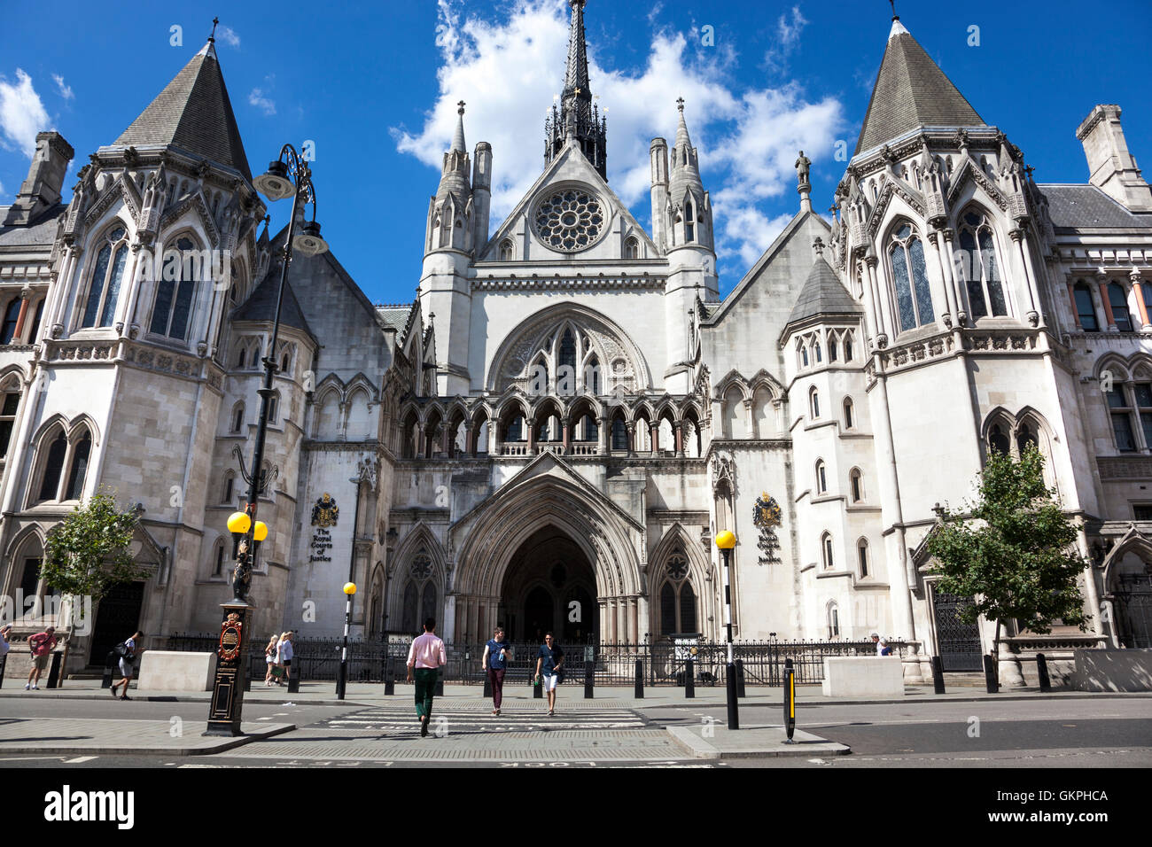 Royal Courts of Justice on Strand, London, UK - Stock Image