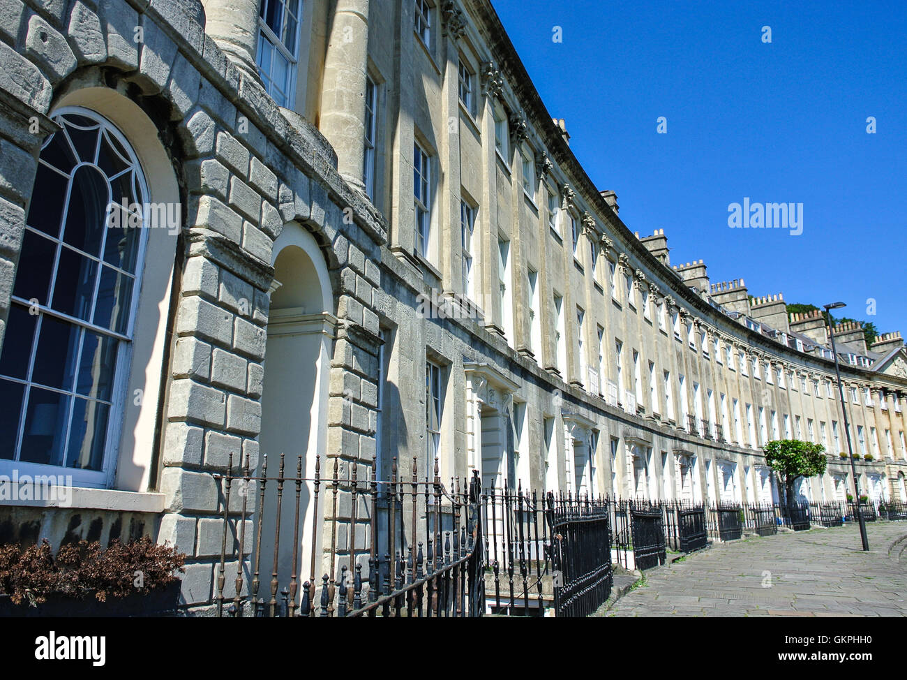 Camden Crescent Georgian property in Bath somerset England UK - Stock Image
