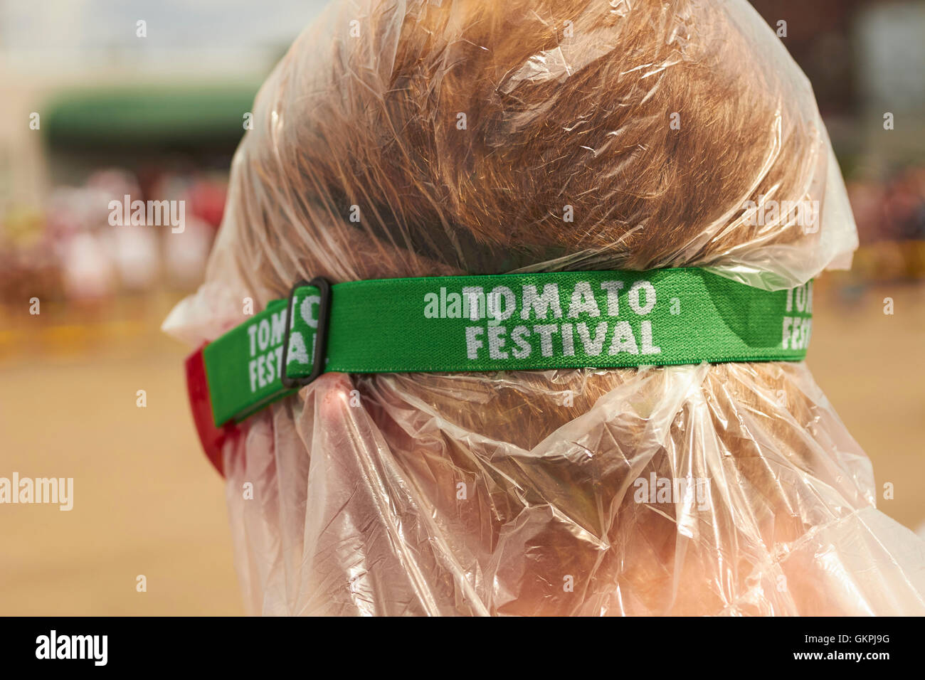 Tomato fighter, Pittston Tomato Festival, Tomato Fights, Pennsylvania, USA - Stock Image