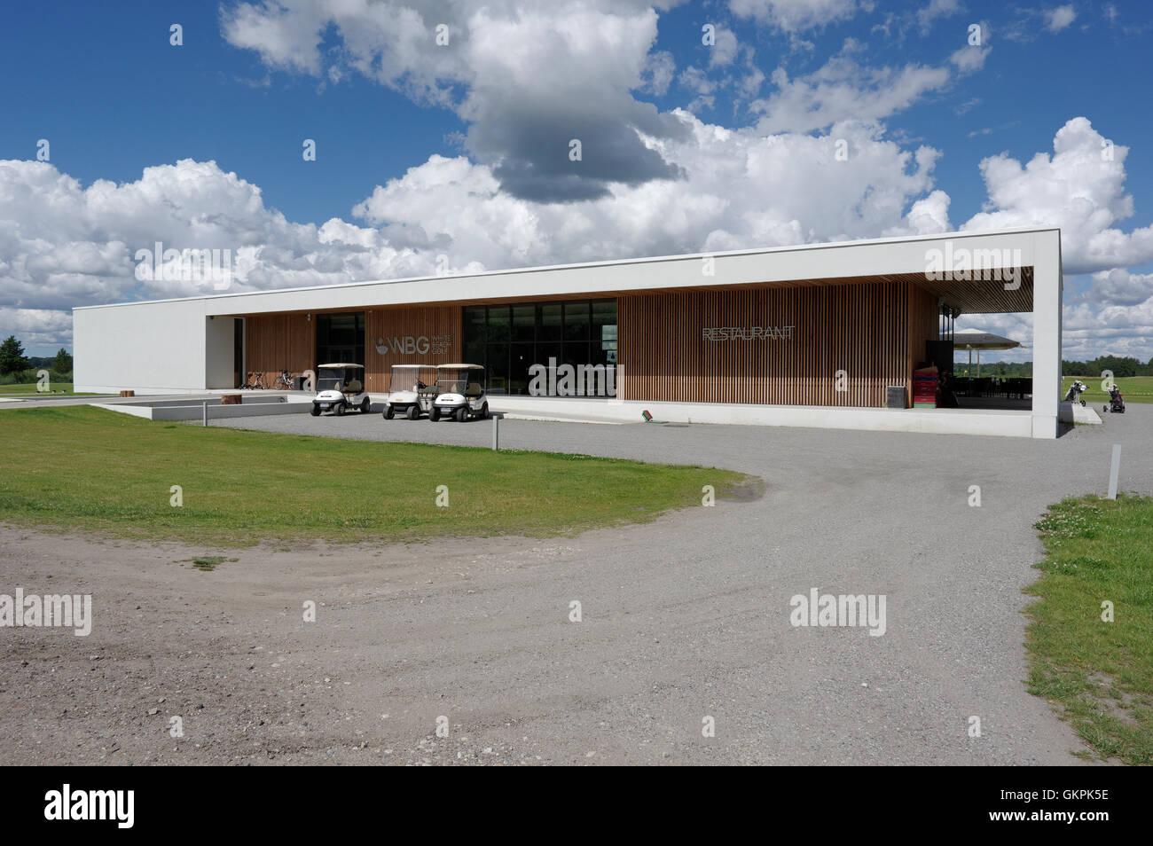 The White Beach Golf course designed architect Kosti Kuronen. Audru, Valgerand, Pärnu county, Estonia - Stock Image