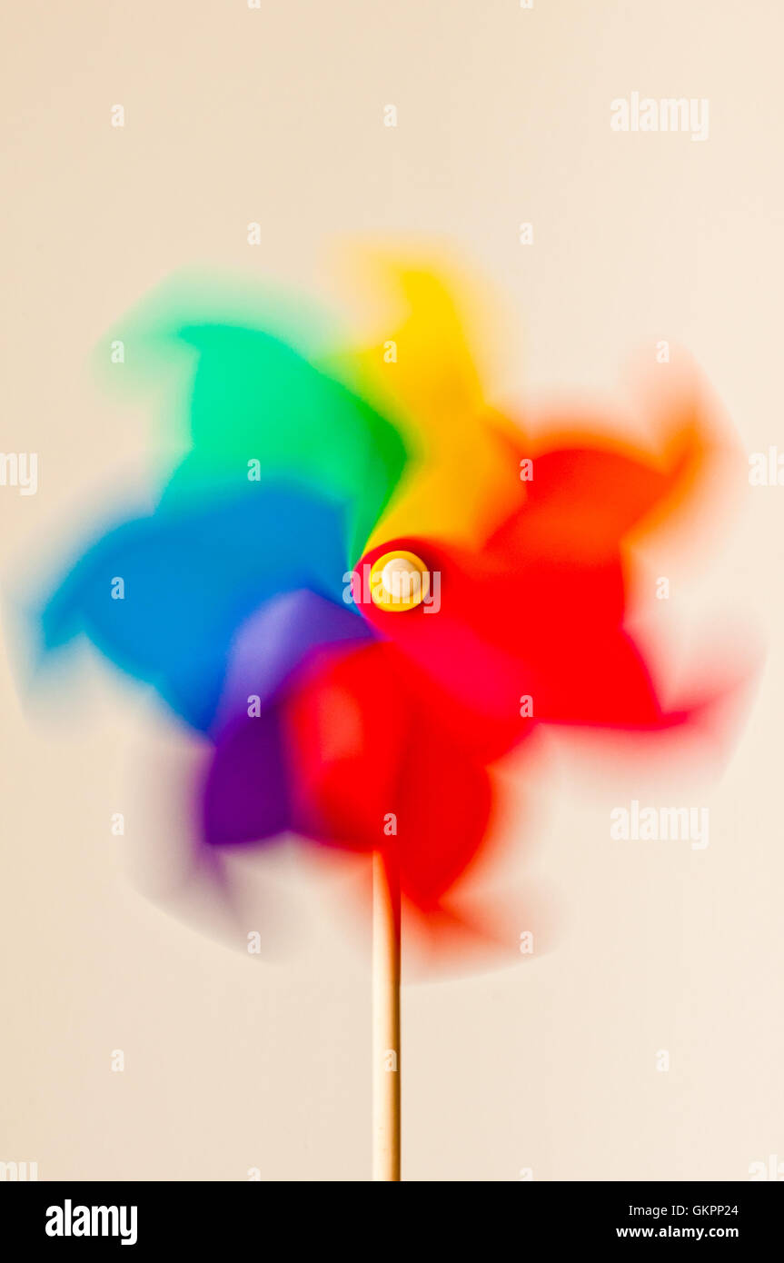 toy wind spinner or windmill - Stock Image