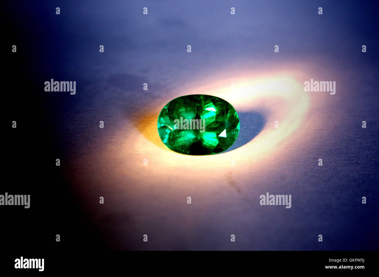 Fine colombian emerald - Stock Image