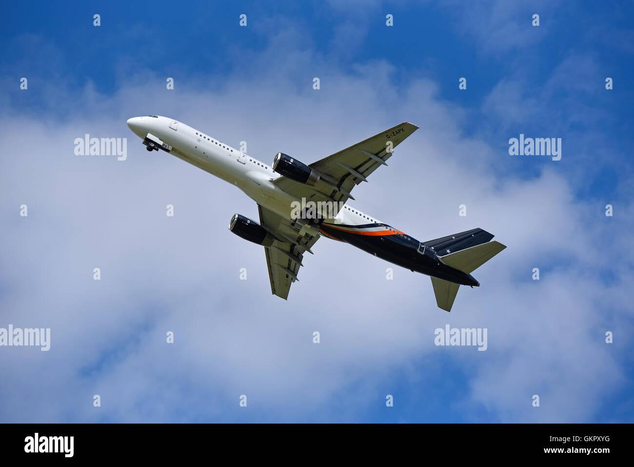 Boeing 757-200 Titan Airways Registration Serial  G-ZAPX .     SCO 11,178. - Stock Image