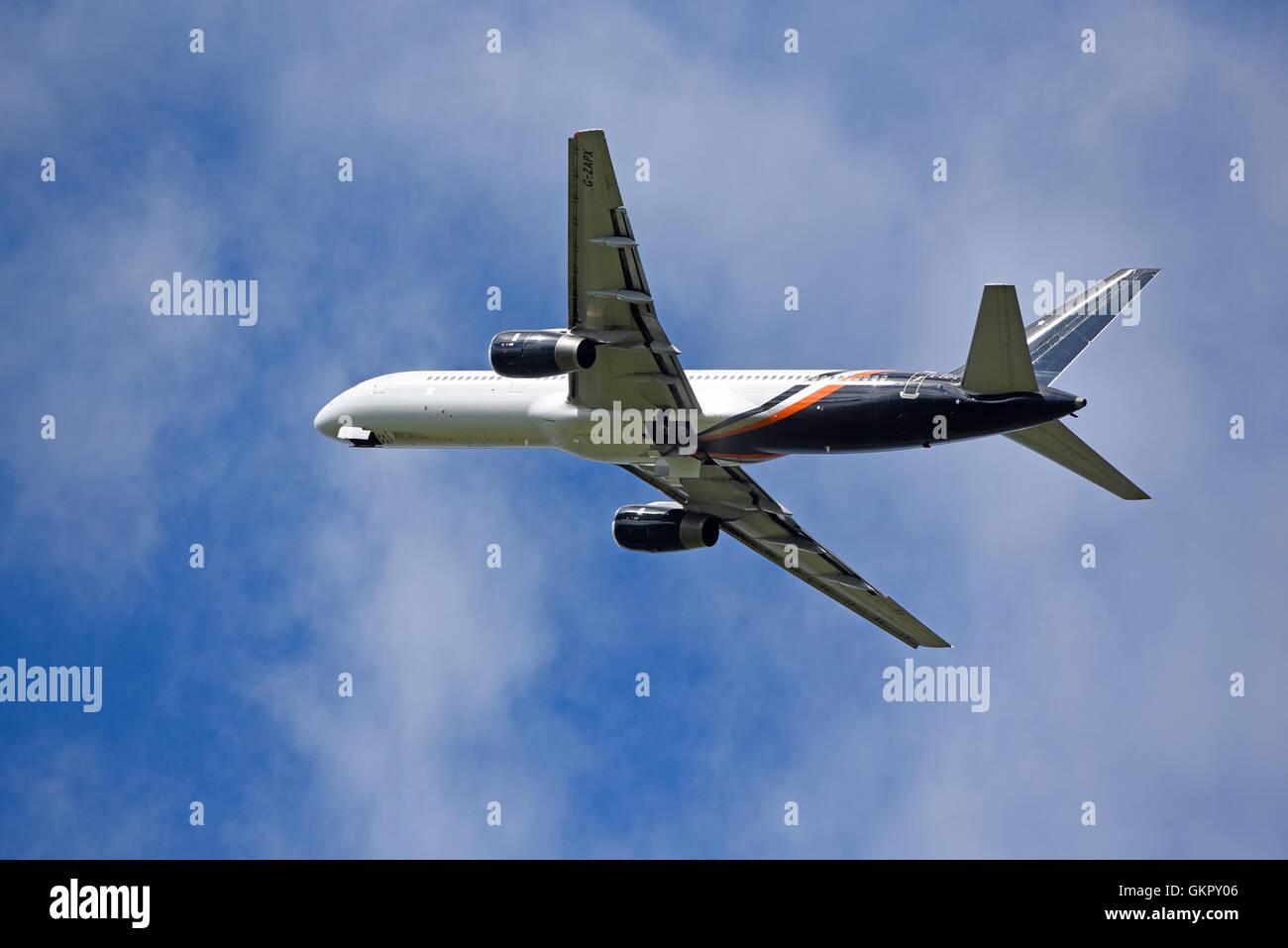 Boeing 757-200 Titan Airways Registration Serial  G-ZAPX.     SCO 11,179. - Stock Image