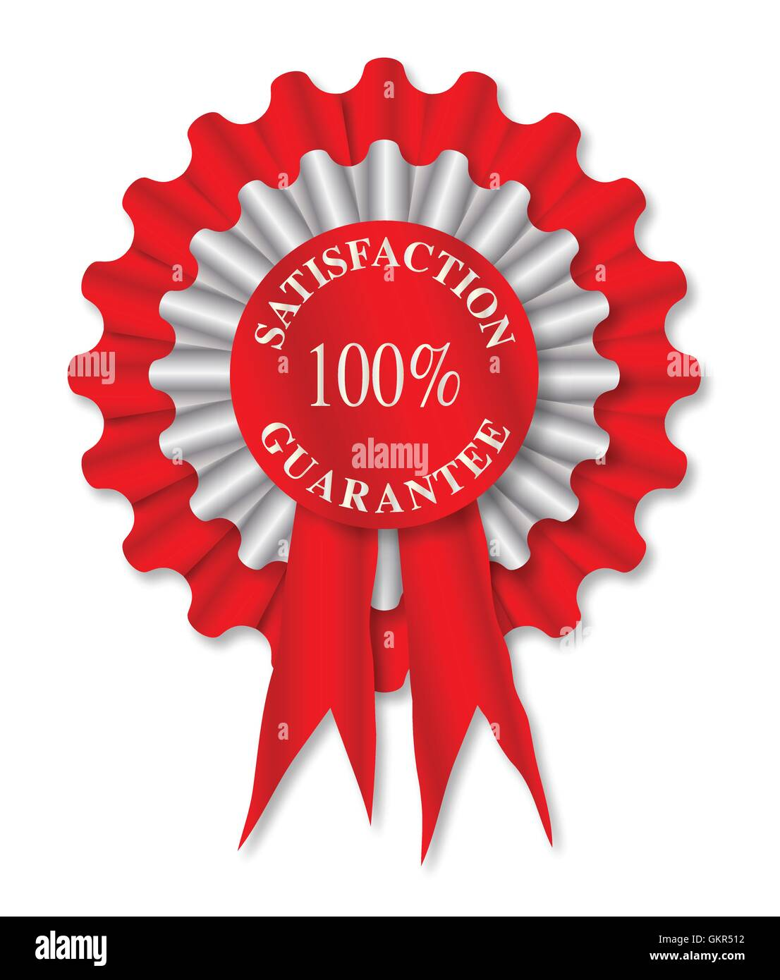 Satisfaction Guarantee Rosette - Stock Vector