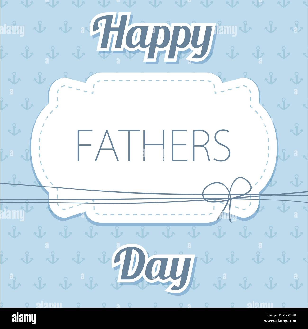 Happy Father's Day  Vector card with wine glasses on
