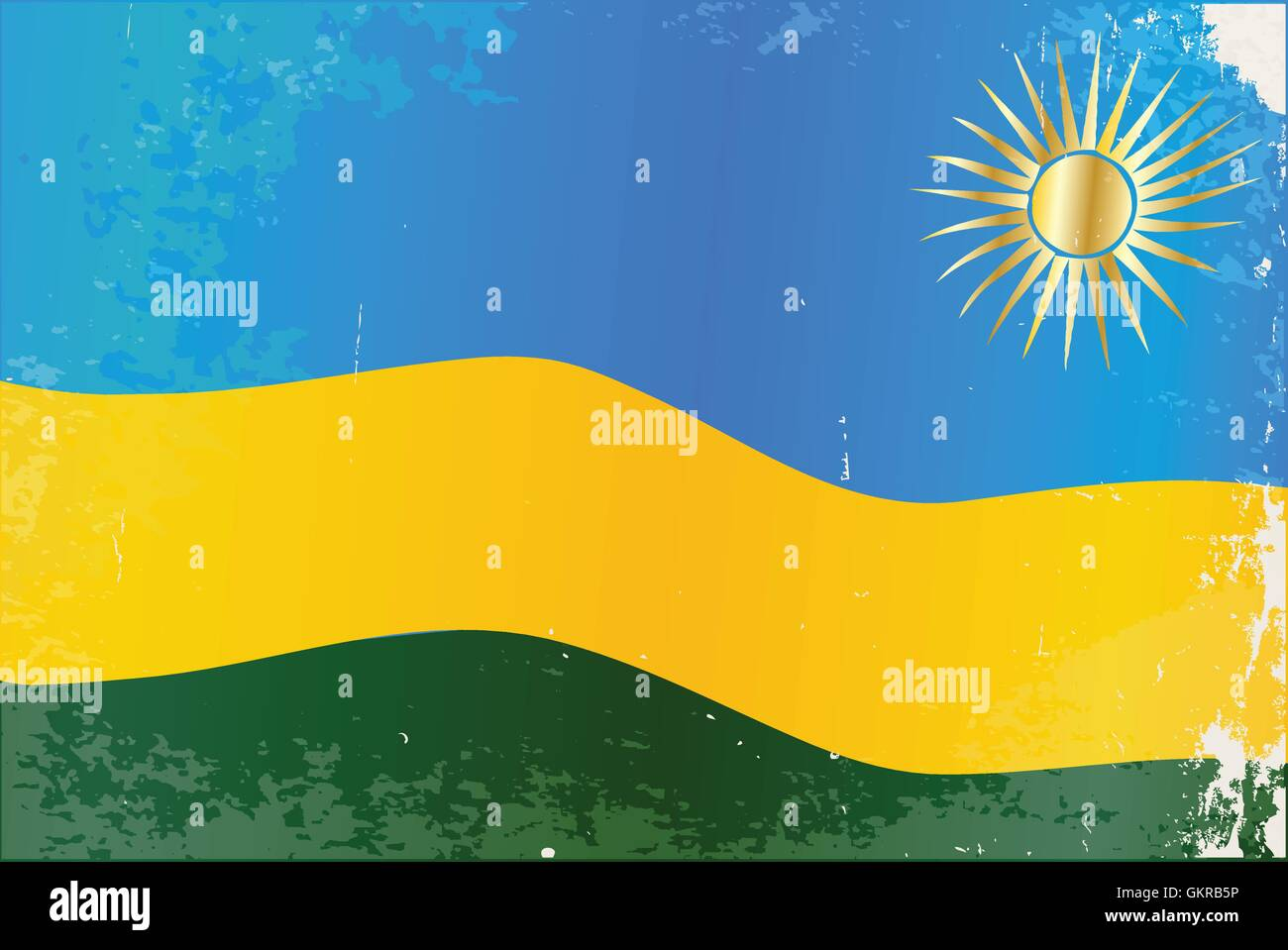 Rwanda Flag Grunge - Stock Vector
