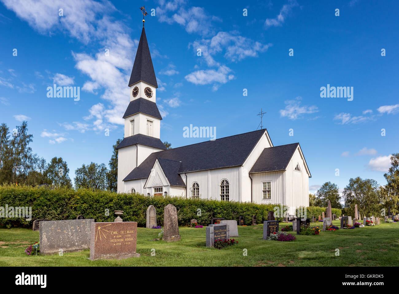 Särna Church, Älvdalen Municipality, Dalarna County, Sweden - Stock Image