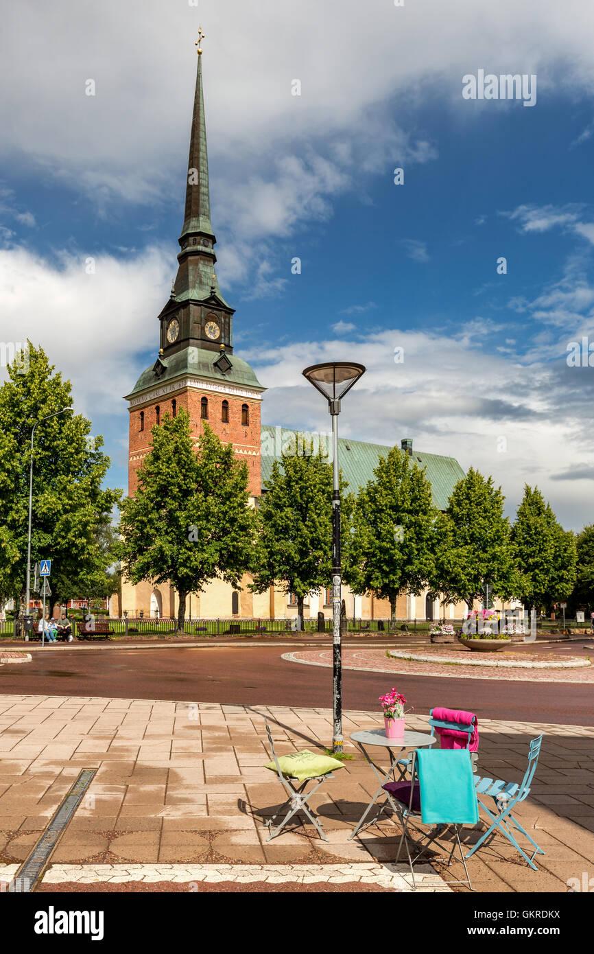 Mora Church, Mora Municipality in Dalarna County, Sweden - Stock Image