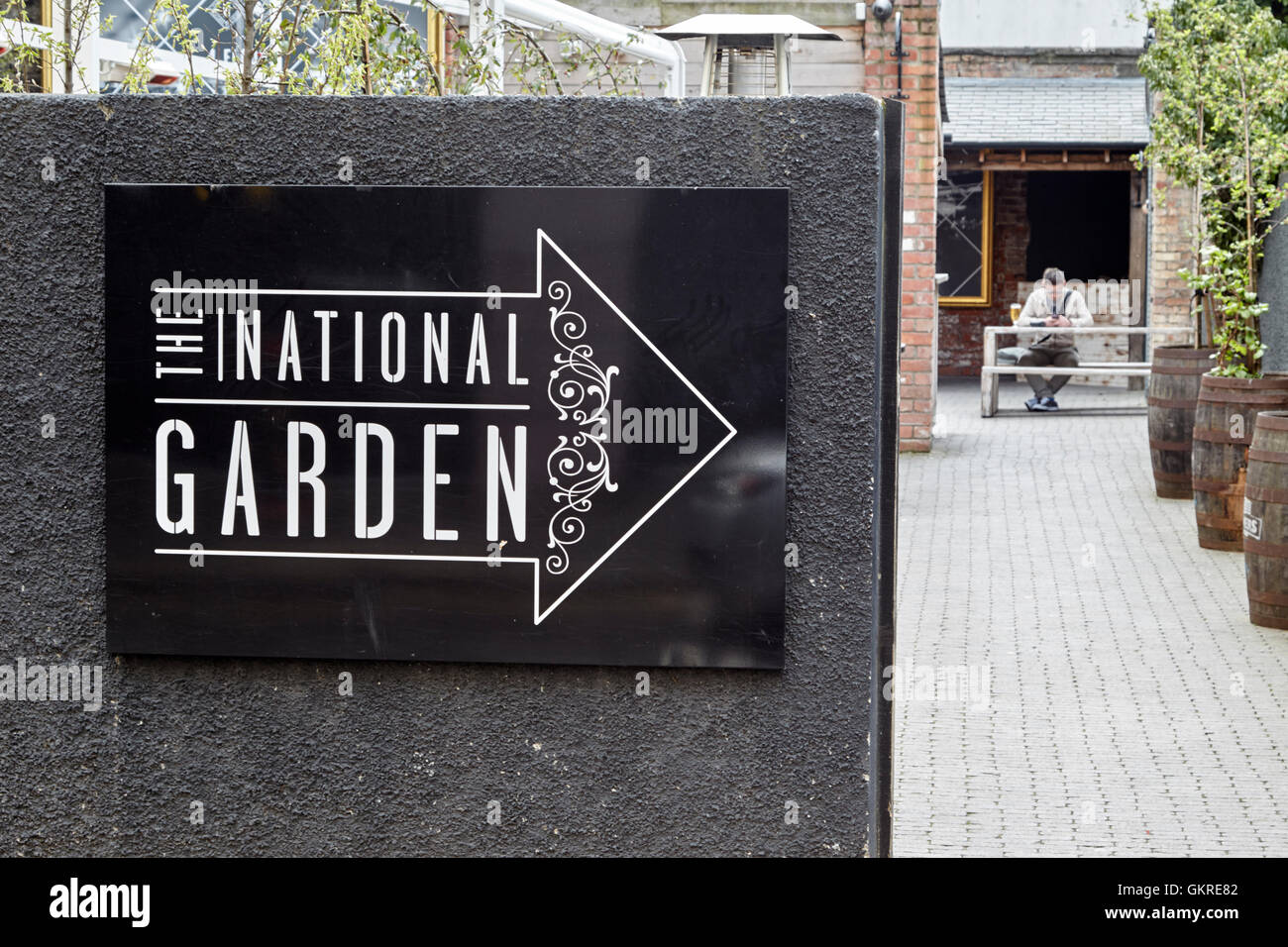 The national pub beer garden in Belfast City Centre - Stock Image