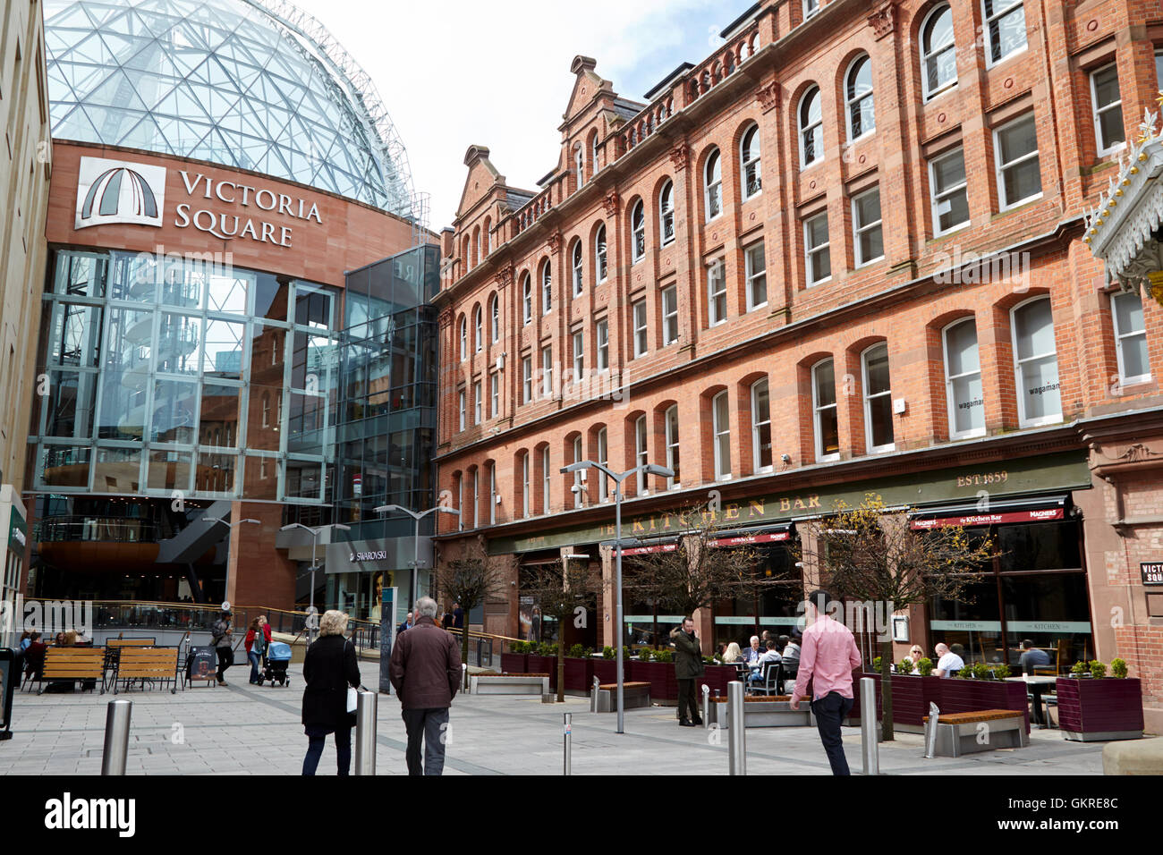 victoria square shopping centre and the kitchen bar belfast city centre - Stock Image