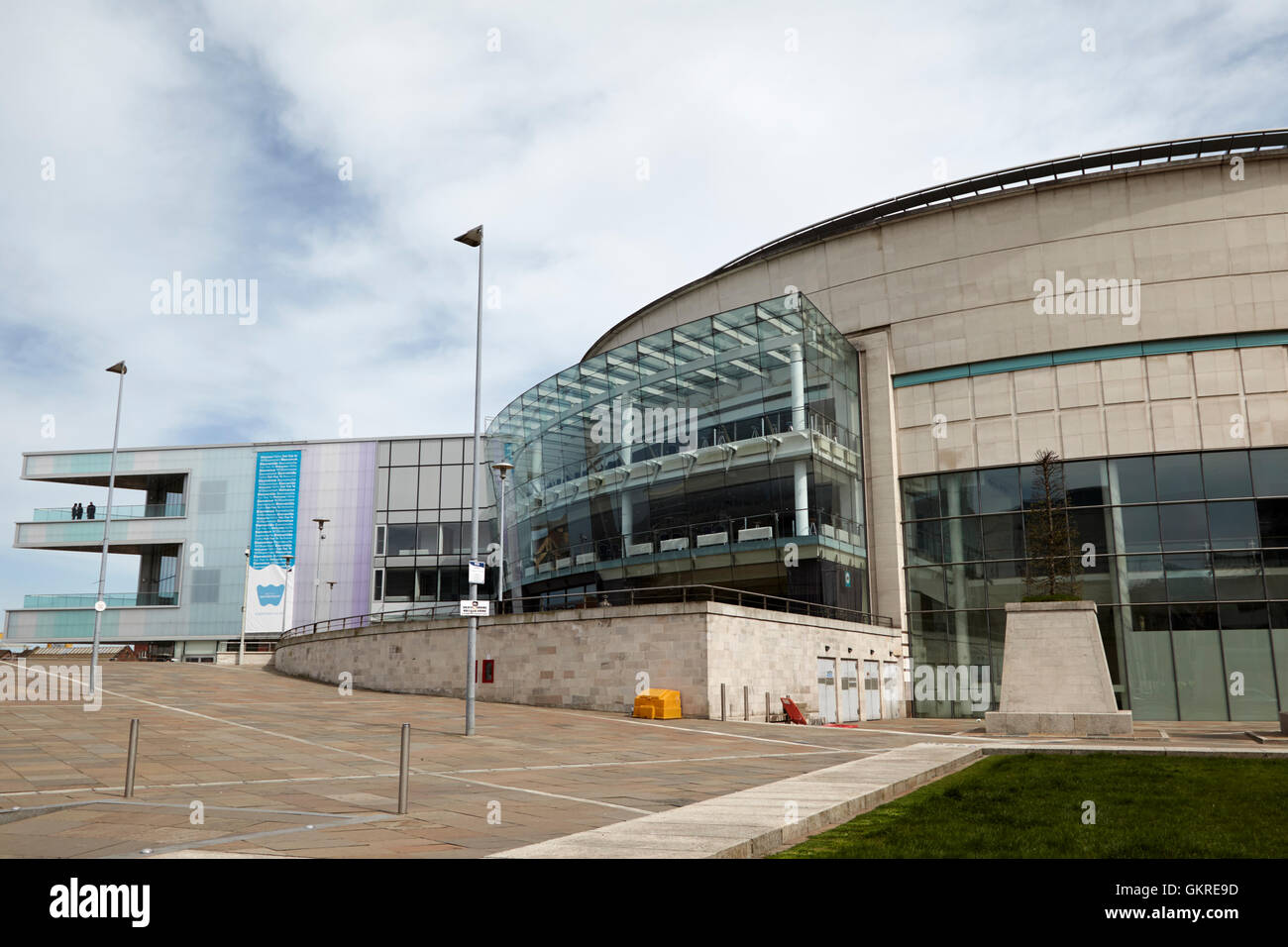 the waterfront hall and new extension belfast - Stock Image