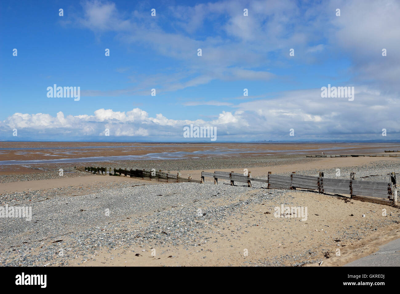 Morecambe Bay Beach Stock Photos and Images