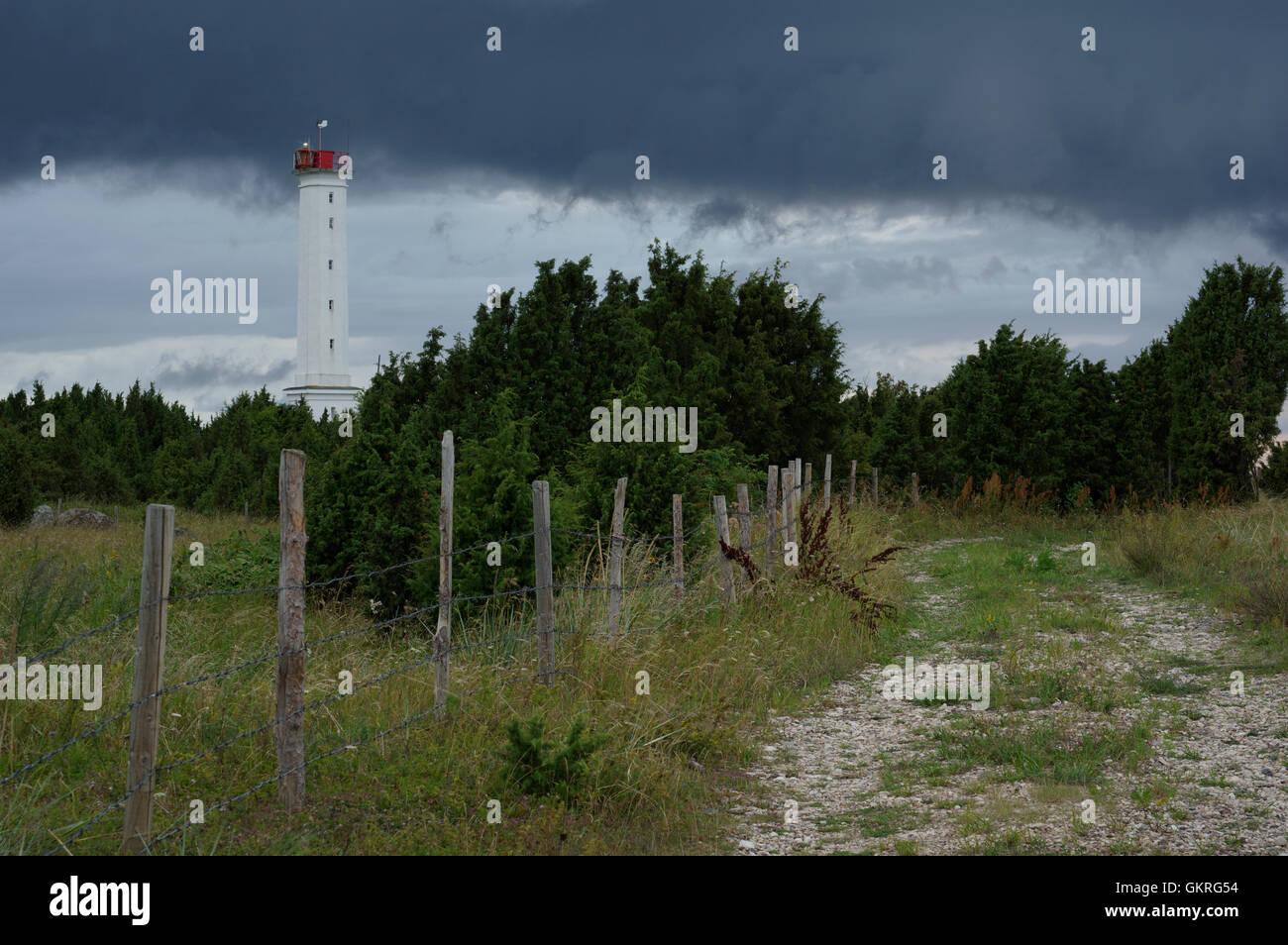 Sõmeri Lighthouse, Sõmeri Peninsula Light cordinates: 58.3503 N; 23.7398 E Pärnu County Estonia 10th - Stock Image