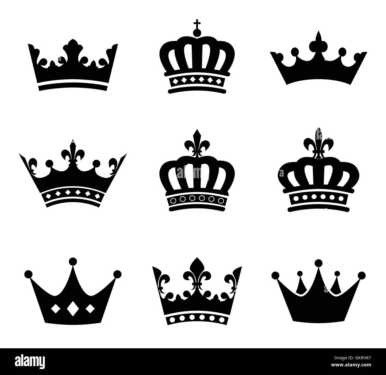 Queen Sign Emperor King Icon Princess Pictogram Symbol Pictograph