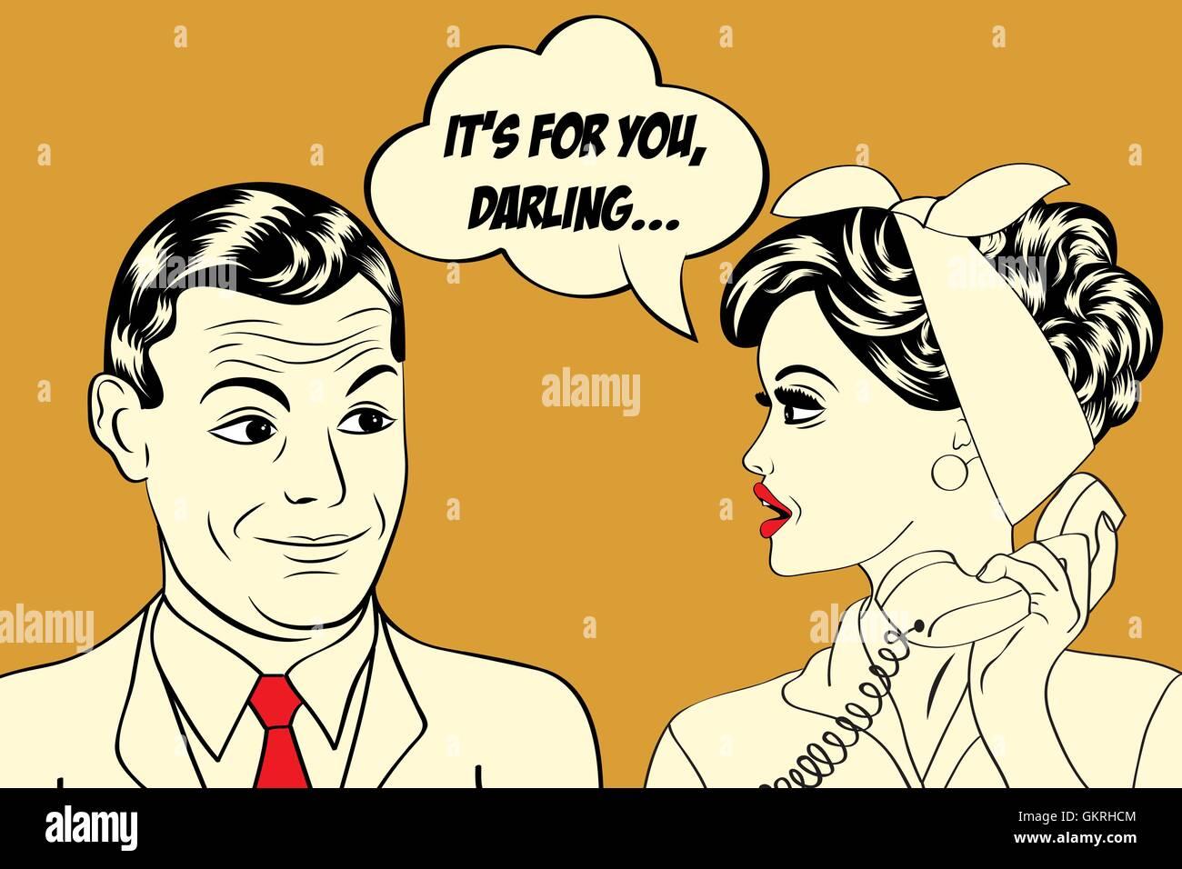 woman talk speaking speaks spoken speak talking chat nattering art lady female male masculine - Stock Vector