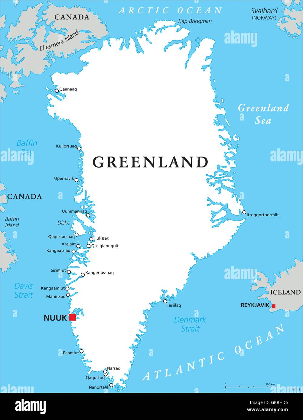 arctic greenland denmark map atlas map of the world travel arctic ...
