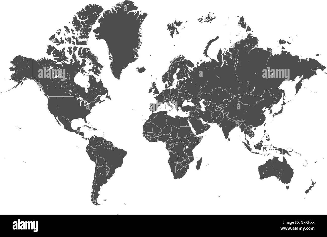 World map with gray borders vector stock vector art illustration world map with gray borders vector gumiabroncs Image collections