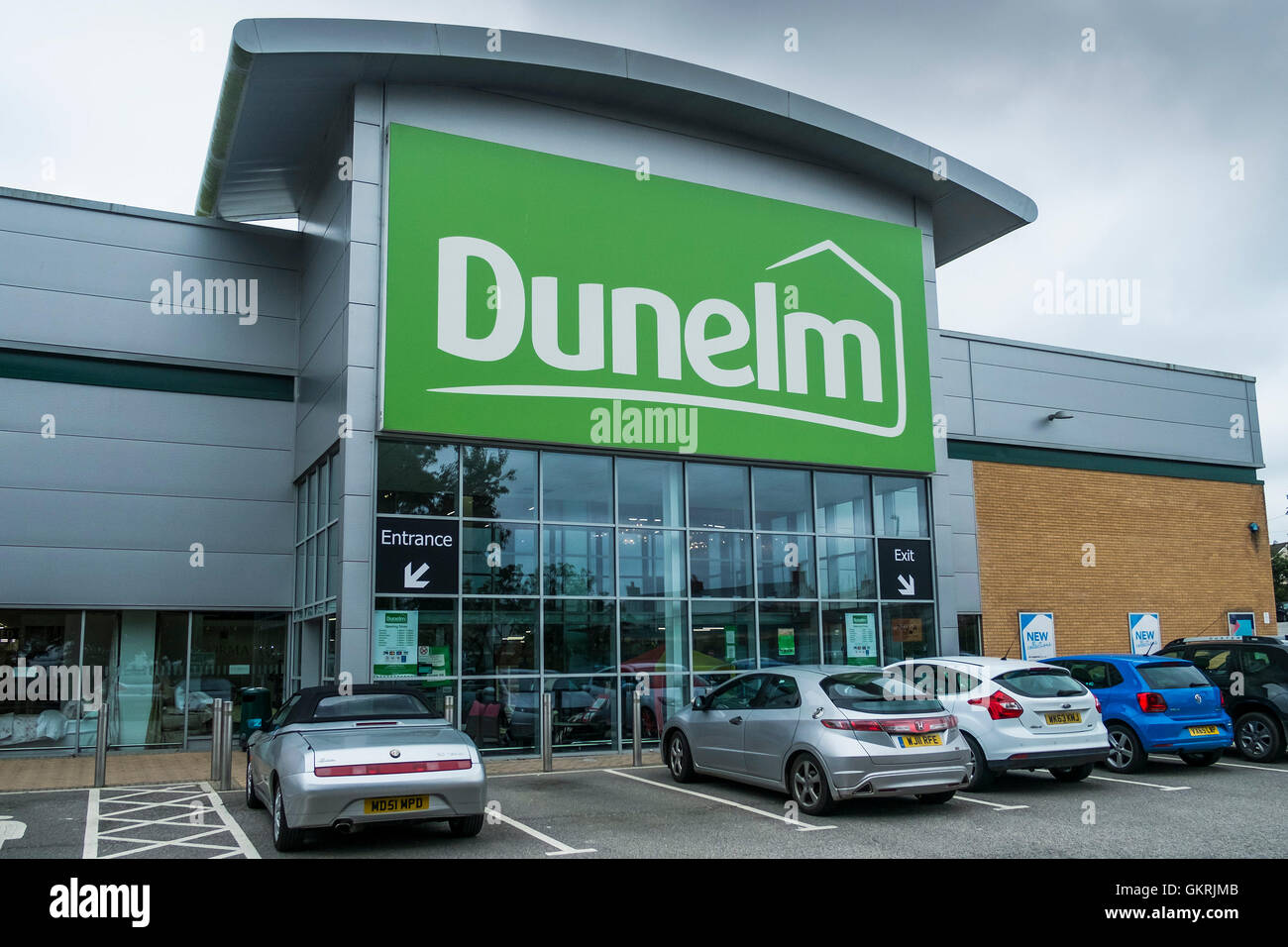 Dunelm.  A large retail oulet in Truro in Cornwall. - Stock Image