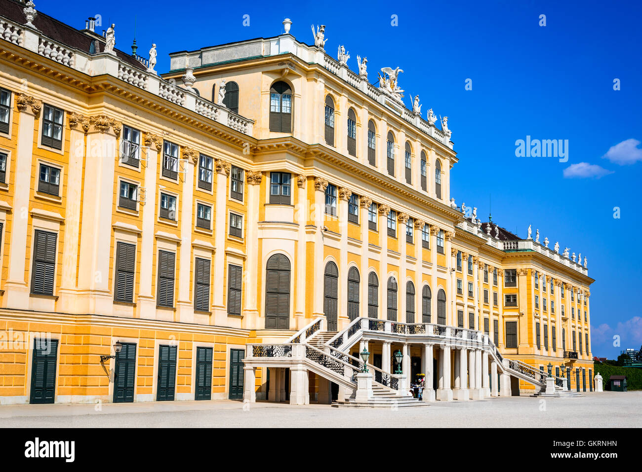 Vienna, Austria. Schonbrunn Palace in Wien. It's a former imperial 1,441-room Rococo summer residence in modern - Stock Image