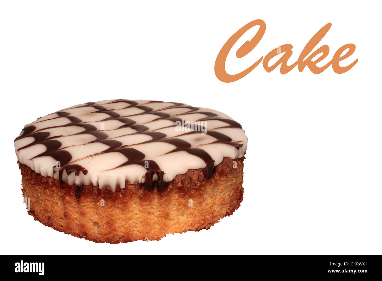 Beautiful Cake over white - Stock Image