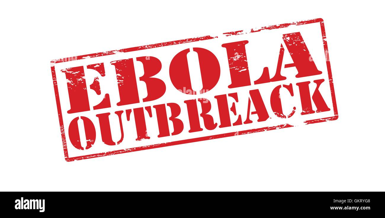 Ebola outbreak Stock Vector