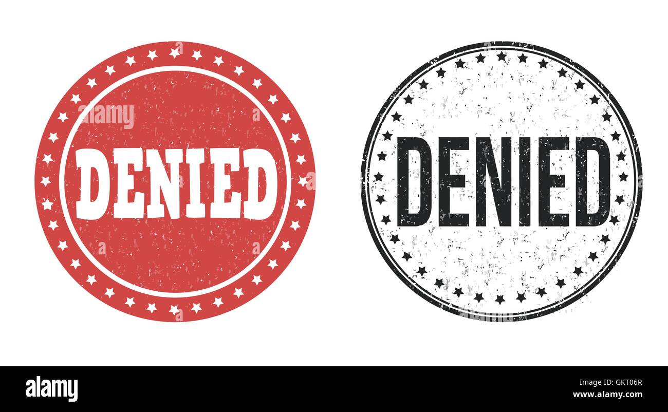 Denied stamps - Stock Image
