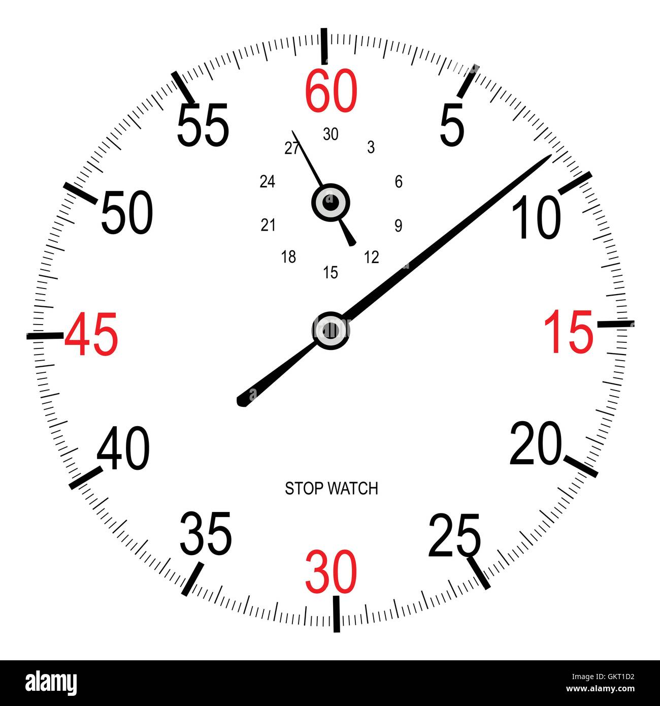Stop Watch Face - Stock Image