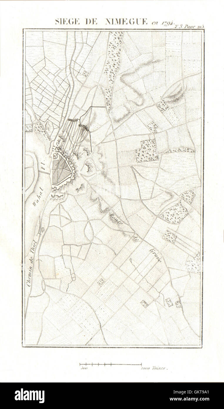 War of the First Coalition Netherlands 1817 map Siege of Maastricht in 1794