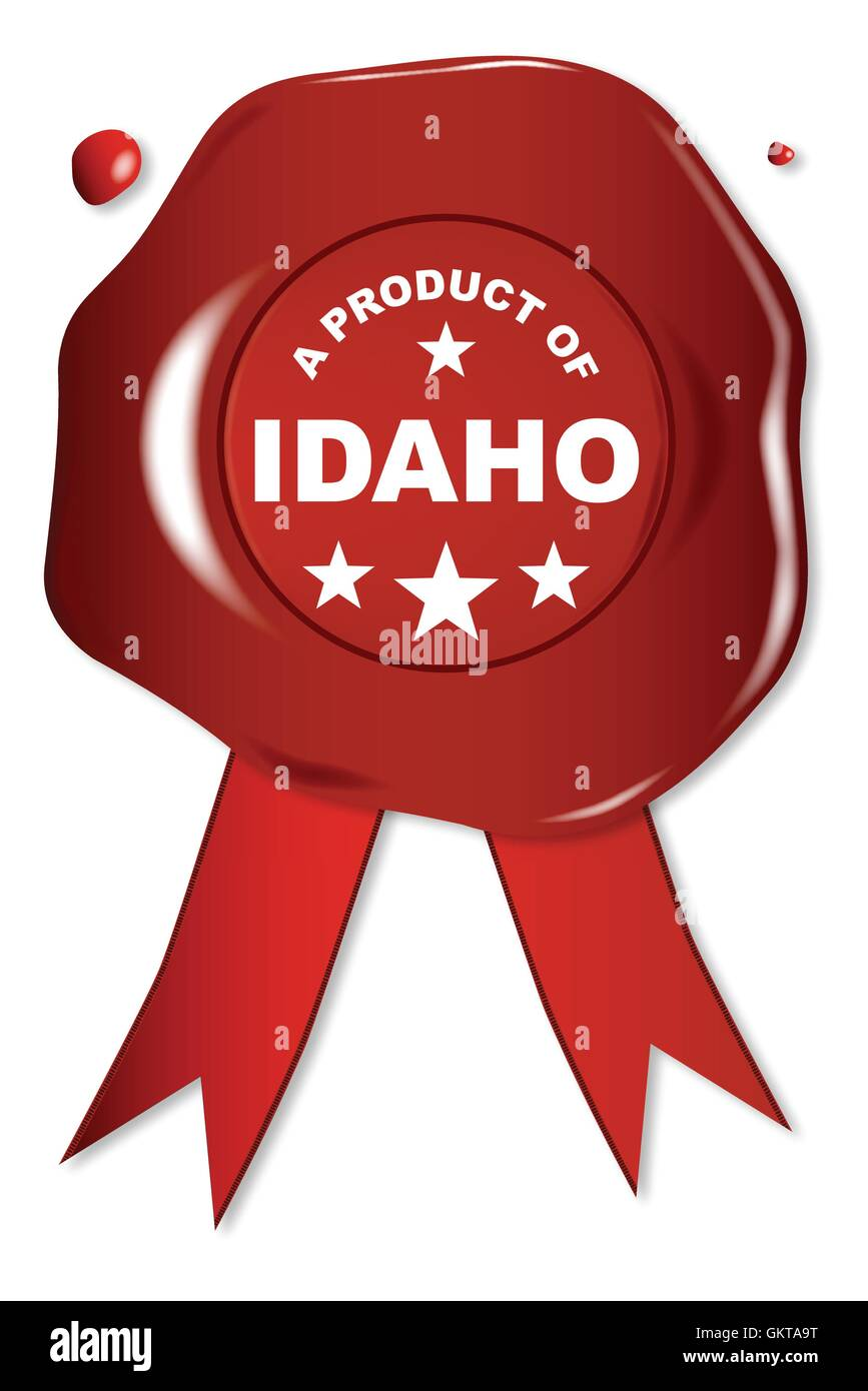 A Product Of Idaho - Stock Image