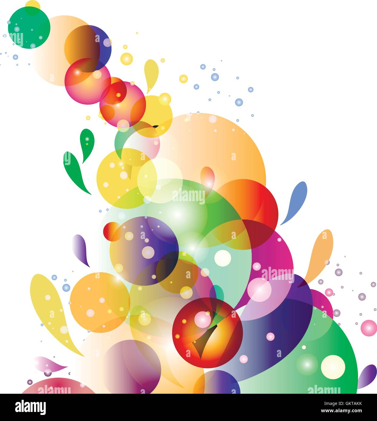 Bubbles with white background. - Stock Vector