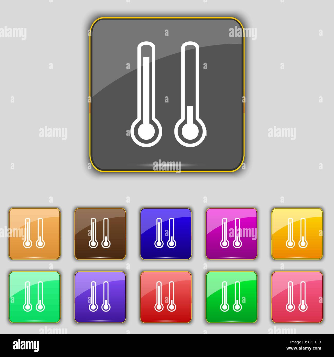 Thermometer Icon High Low Temperature Stock Photos & Thermometer ...