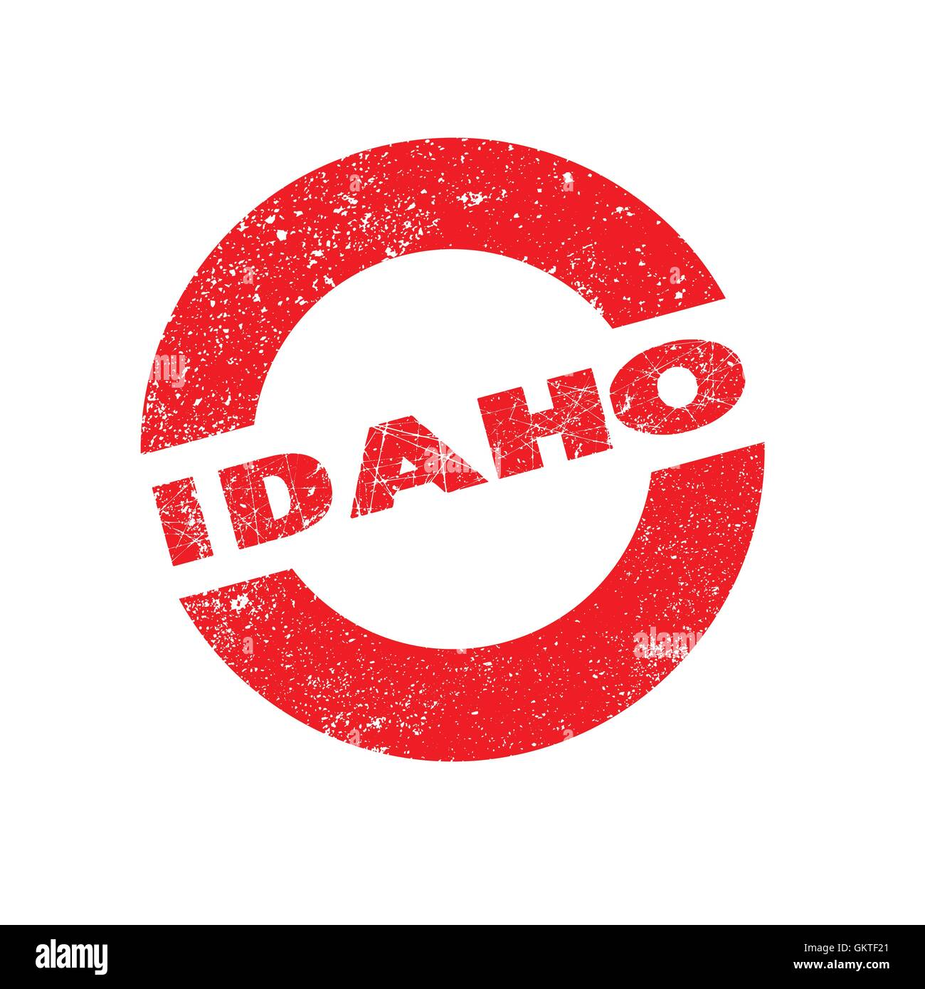 Rubber Ink Stamp Idaho - Stock Image