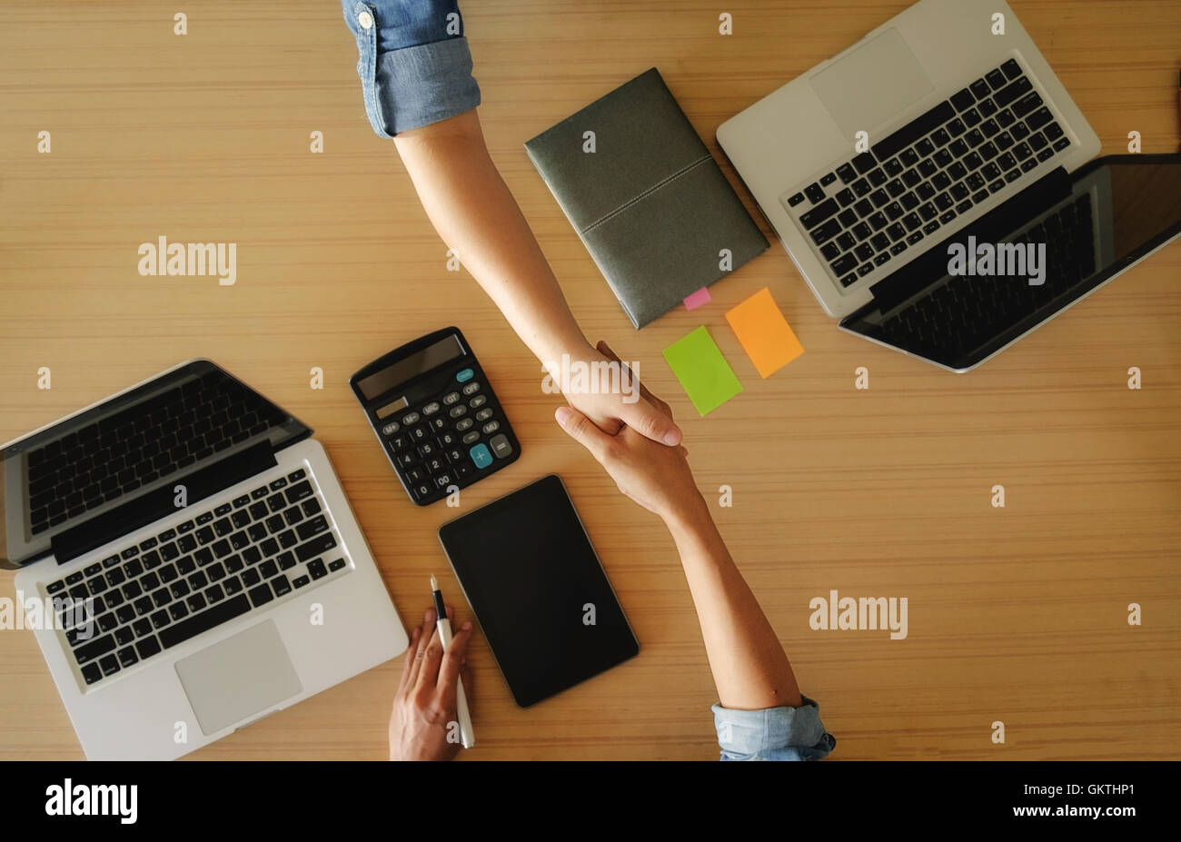business, people, discussing,successful,teamwork,accounting, achievement,co-workers, collaboration,handshake - Stock Image