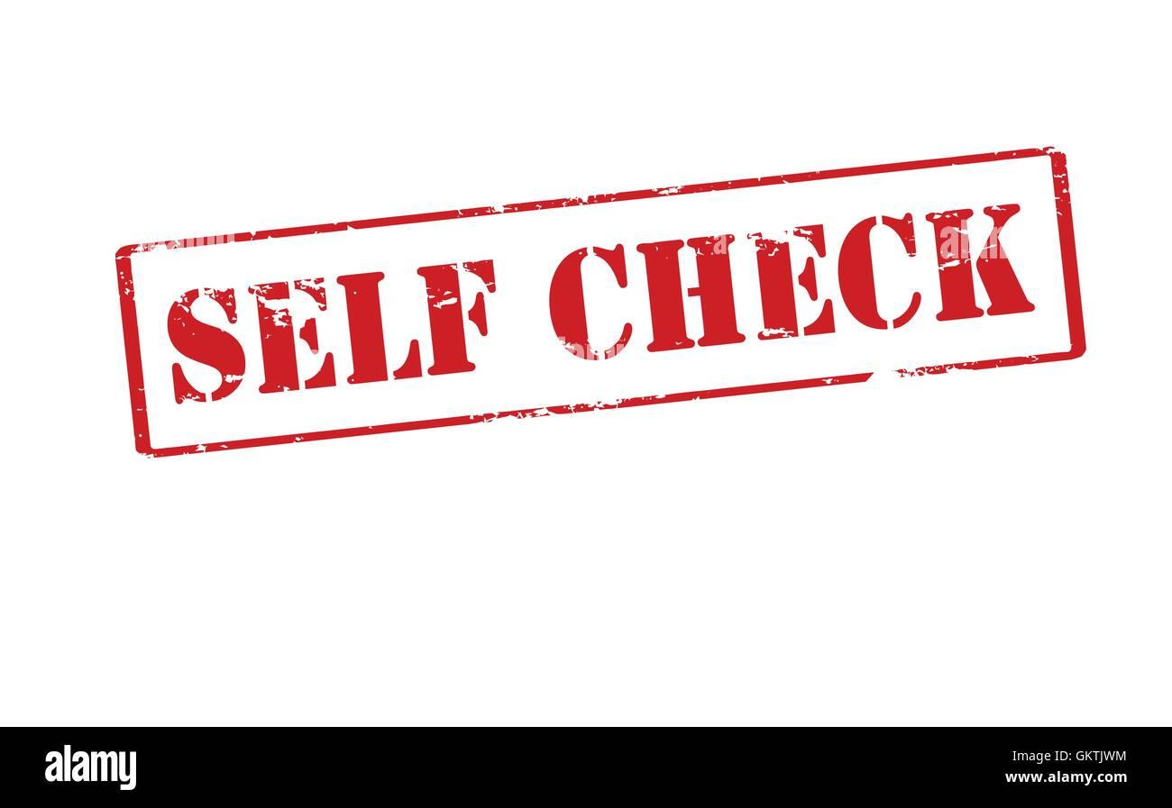 Self check - Stock Image