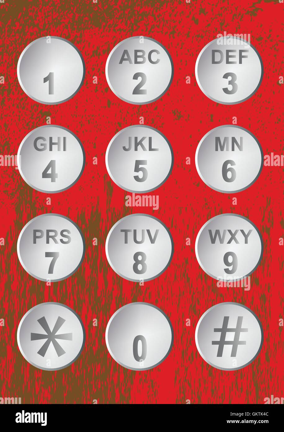 Numerical Code Buttons - Stock Image