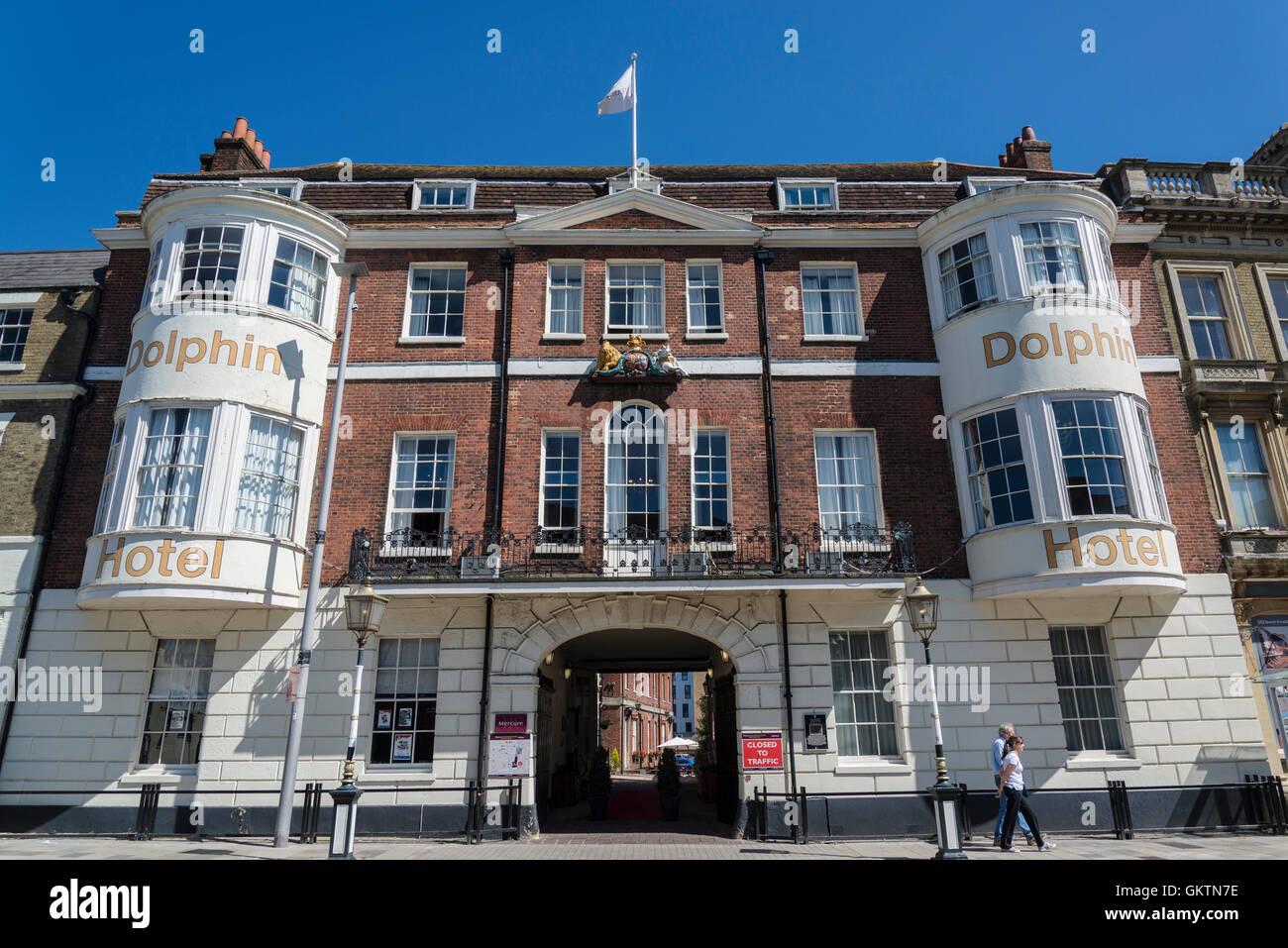 Dolphin Hotel, Southampton, Hampshire, England, UK - Stock Image