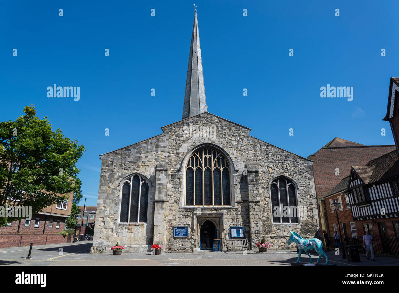 St Michael's Church, Southampton, Hampshire, England, UK - Stock Image