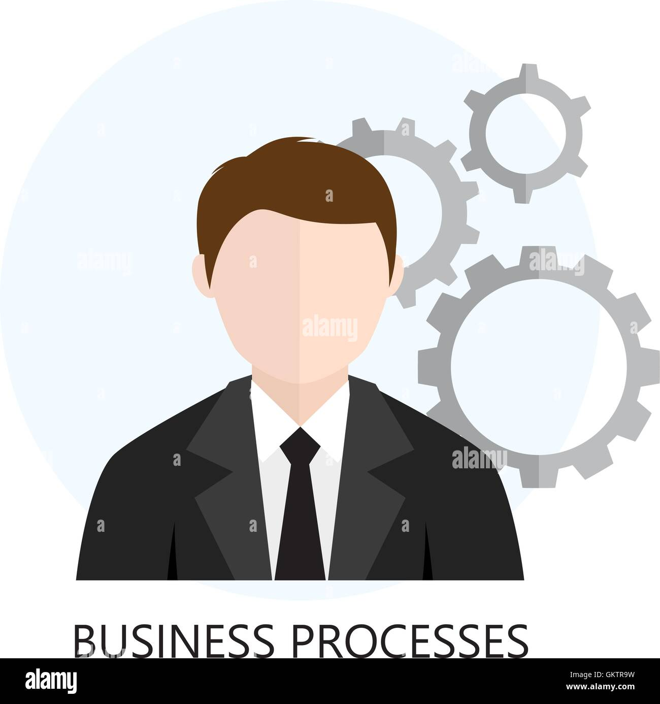 Business Process Analytics Flat Icon - Stock Image