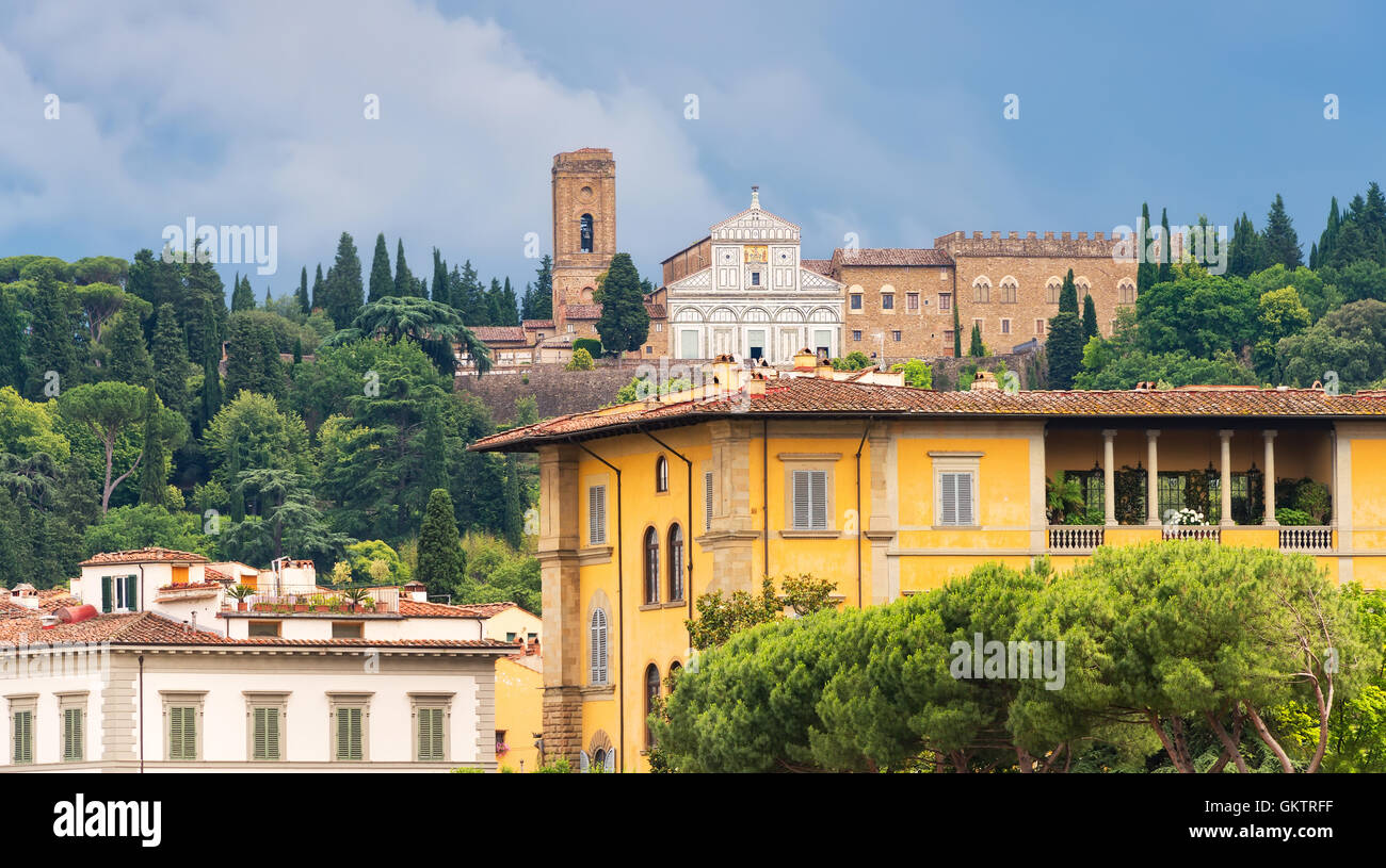 Village in Florence, Italy. European architecture and designs. - Stock Image