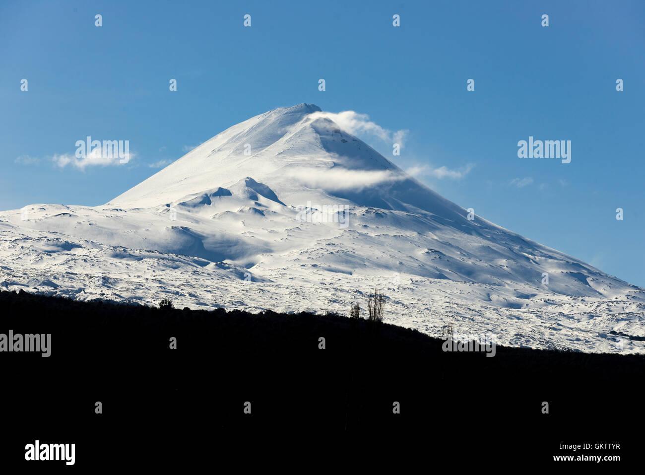 Volcan LLaima, region de la Araucania. LLaima Volcano, Araucania region. Patagonia, Chile. - Stock Image
