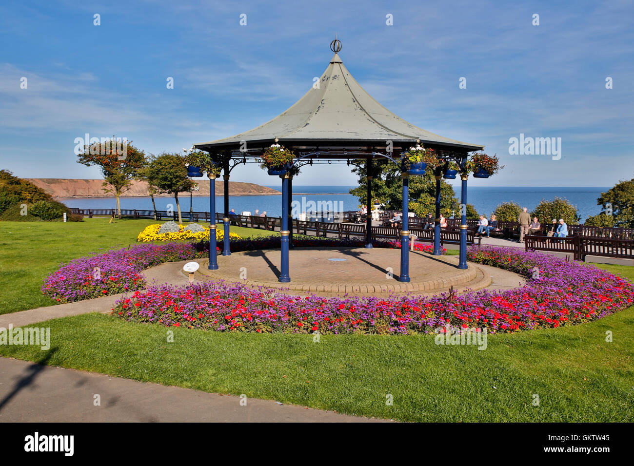 Filey; Park; Yorkshire; UK - Stock Image