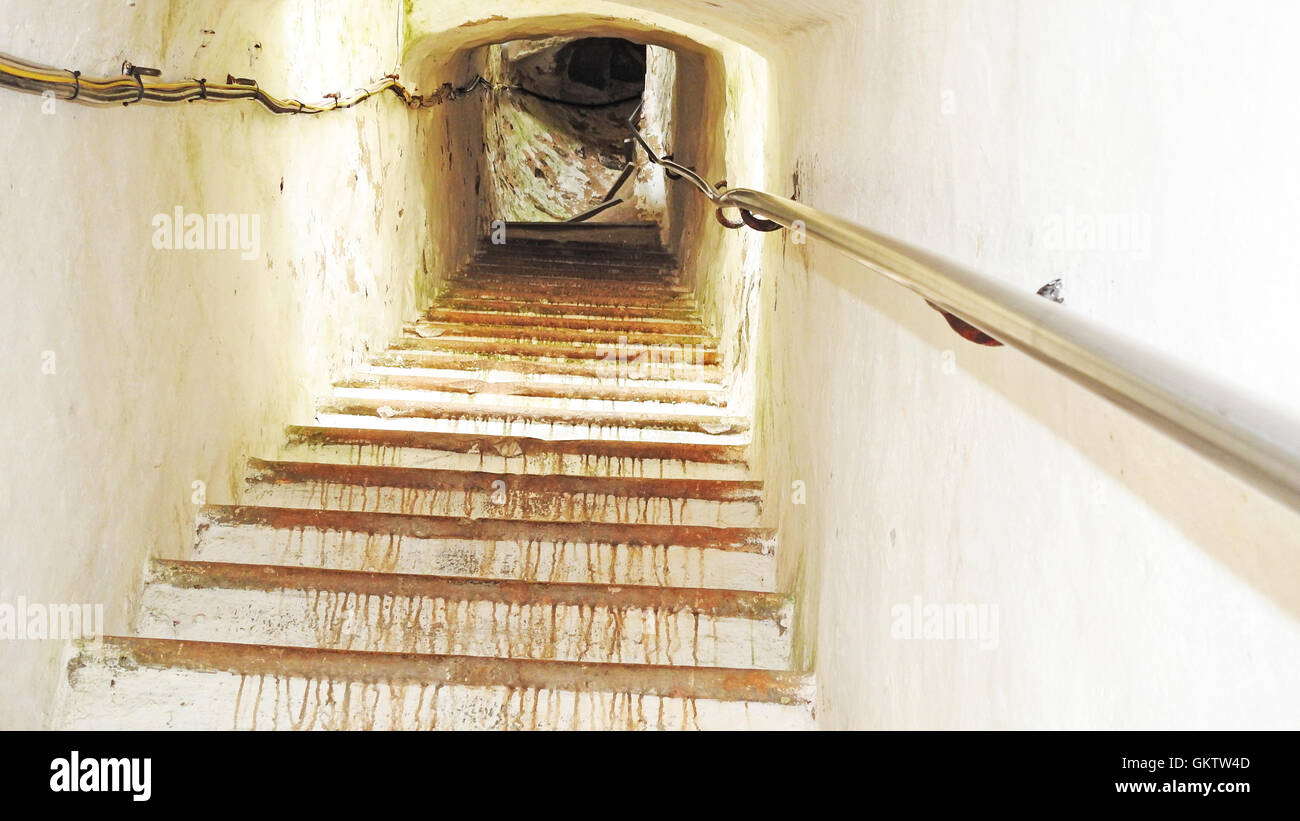 Old Narrow Stairs In Lighthouse.   Stock Image