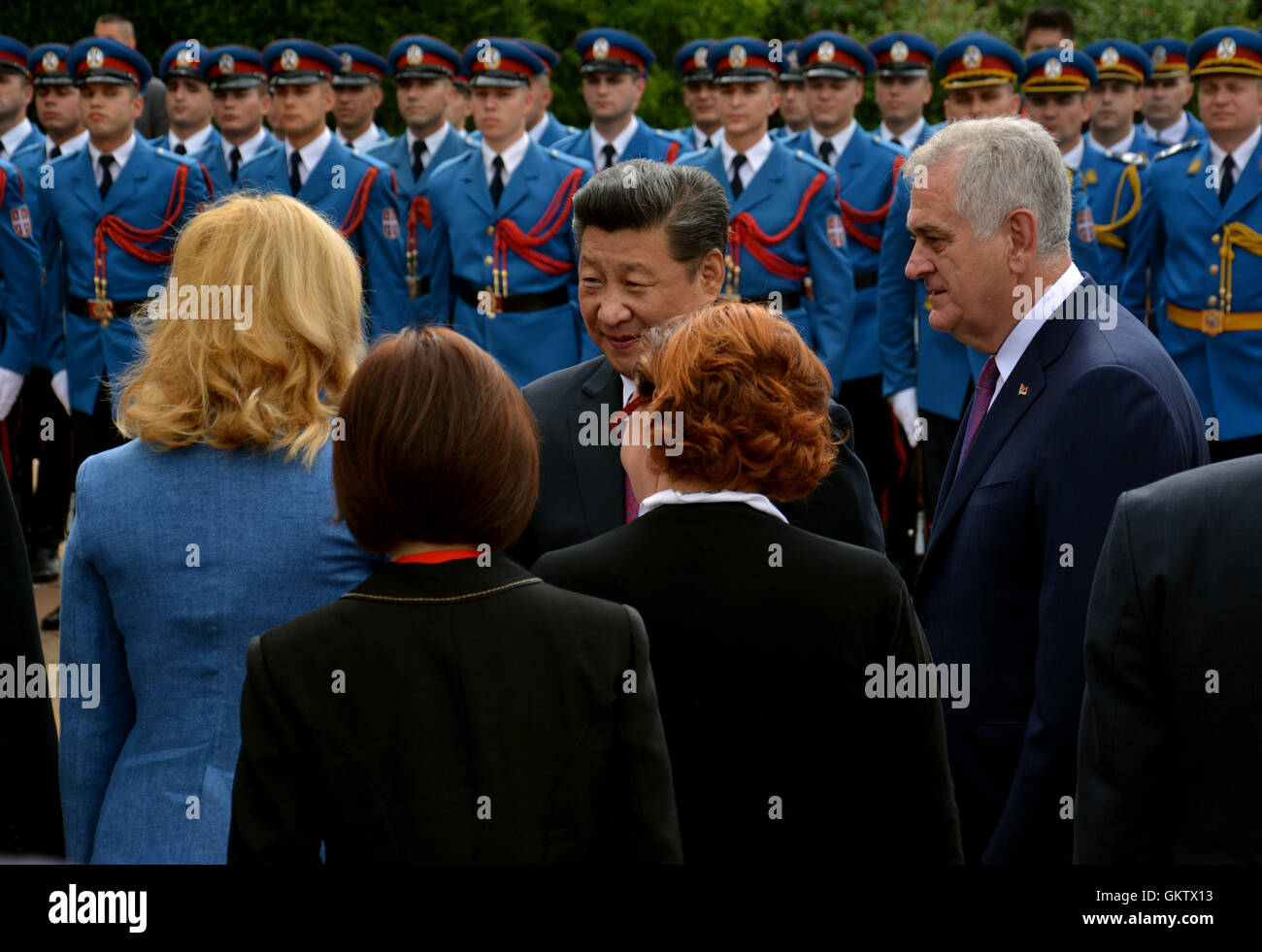 Belgrade, Serbia. 18th June, 2016. President of the People's Republic of China Xi Jinping on an official three-day - Stock Image