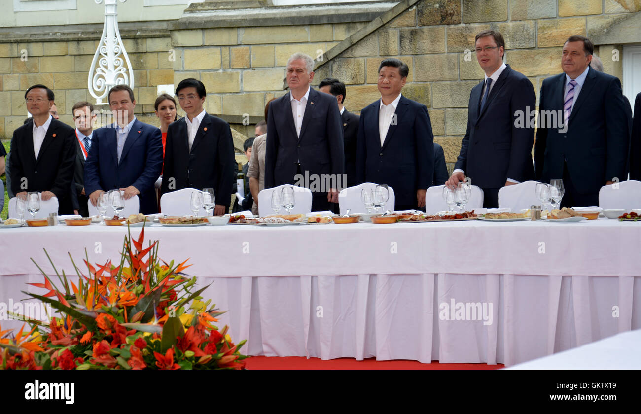 Belgrade, Serbia. 19th June, 2016. President of the People's Republic of China Xi Jinping on an official three-day - Stock Image