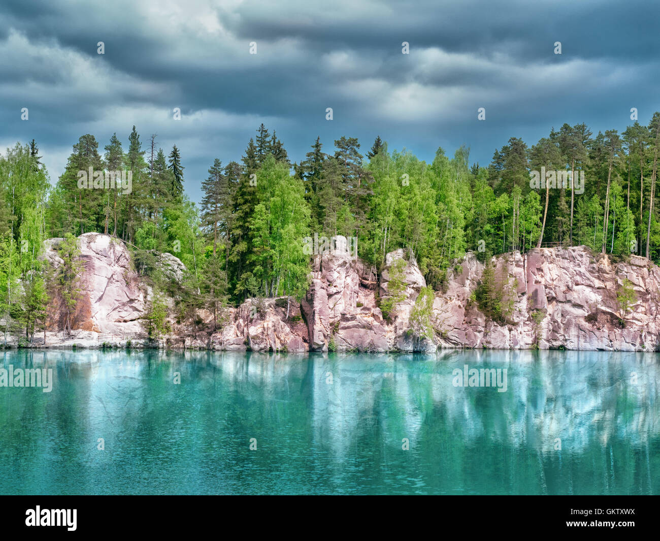 National Park of Adrspach-Teplice rocks - Stock Image